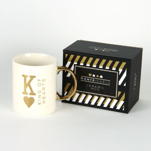 King of Hearts playing card mug in gift box poker theme mug